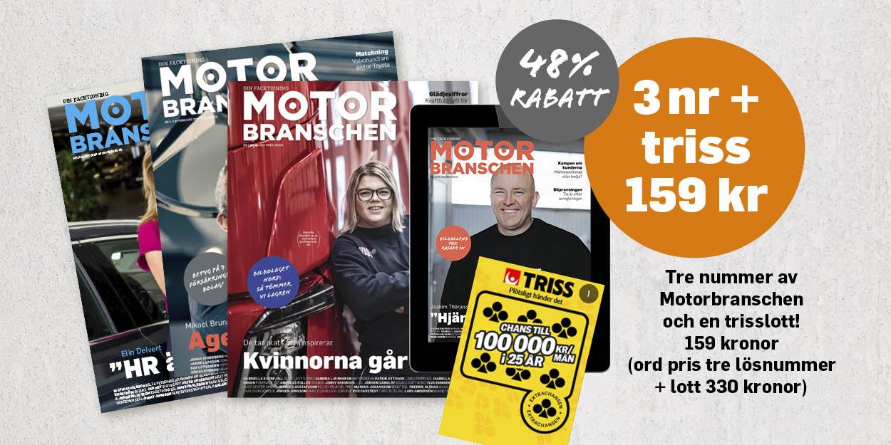 Prenumerationskampanj tidningen Motorbranschen